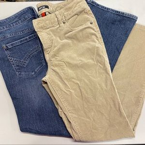 Apt 9 Bundle Pants Denim Corduroy Jeans Size 10